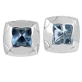 Bulgari Piramide 18K White Gold Topaz Clip-on Earrings