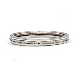 Bulgari B.Zero 1 18K White Gold with 2.00ct Diamond Bangle Bracelet