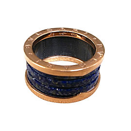 Bulgari B Zero Rose Gold and Lapis Ring Size 8.75