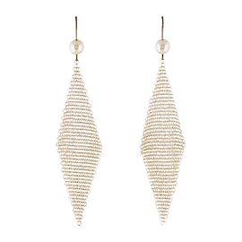 Tiffany & Co. Elsa Peretti Sterling Silver & Pearl Drop Mesh Earrings
