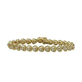 14K Yellow Gold 2.08ctw Diamond Bracelet