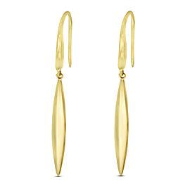 Tiffany & Co. 18K Yellow Gold Feather Drop Earrings