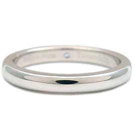 Tiffany & Co. 1P Diamond Platinum Stacking Band Ring