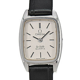 OMEGA Deville Push crown Stainless Steel/Leather Quartz Women's Watch