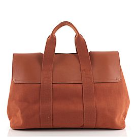 Hermes Valparaiso Bag Toile and Leather MM