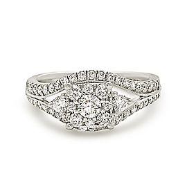 14K White Gold 1.00ctw. Diamond Engagement Ring Size 6.5