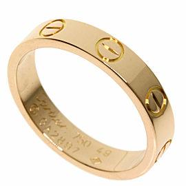 CARTIER 18k Pink Gold mini love ring