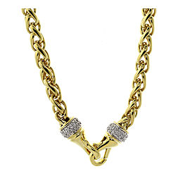 David Yurman Wheat Gold Chain With Diamonds