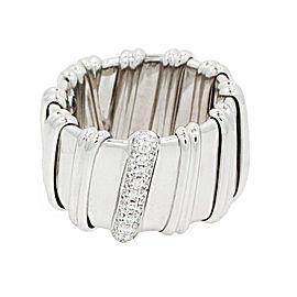 Roberto Coin Nabucco 18K White Gold Diamond Ring Size 6.5