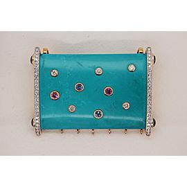 225 Carat Turquoise Pendant In 18 Karat Gold