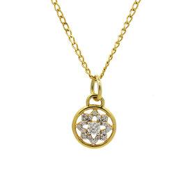 Buddha Mama 20K Yellow Gold & Diamonds Dharma Wheel Necklace