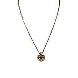 Hermes 18K Yellow Gold Diamond Heart Pendant