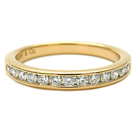 Tiffany & Co. Diamond 18k Yellow Gold Half Circle Channel-set Ring