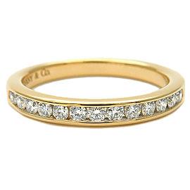 Tiffany & Co. Diamond 18k Yellow Gold Half Circle Channel-set Ring