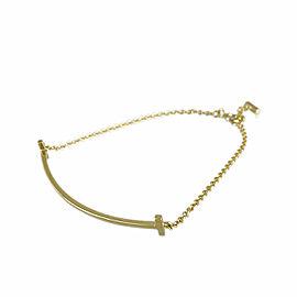 TIFFANY&Co. 18k Yellow gold T Smile Bracelet