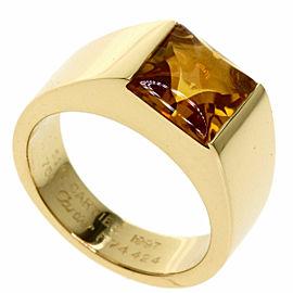 CARTIER 18k Yellow Gold Tank Citrin Ring