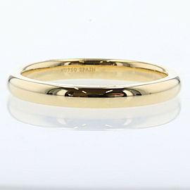 TIFFANY & Co K18 Yellow Gold Stacking band width 0.1 Ring TBRK-92