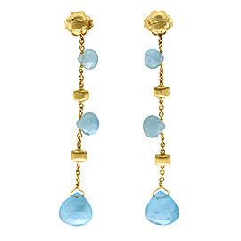 Marco Bicego 18K Yellow Gold Aquamarine Paradise Earrings