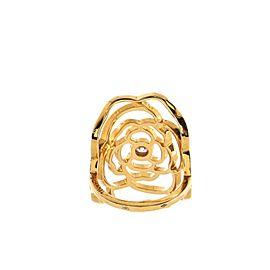 Chanel Petales de Camelia Ring 18K Yellow Gold and Diamond