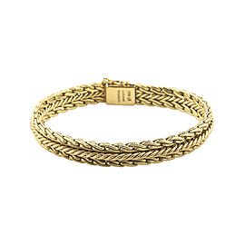 Tiffany & Co. Vintage 18K Yellow Gold Woven Mesh Bracelet