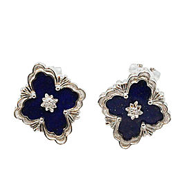 Buccellati Opera 18K White Gold & Lapis Earrings