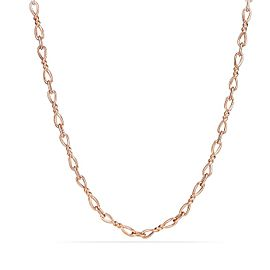 David Yurman 18k Rose Gold Continuance Small Chain 18""