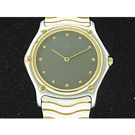 Ebel Classic Wave Stainless Steel & Gold Mens Watch