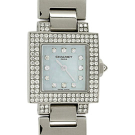 Chaumet Champs-Elysees 18K White Gold Womens Watch