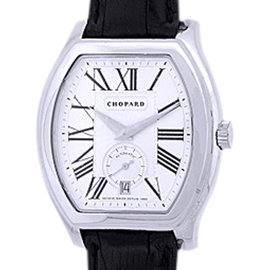 "Chopard ""L.U.C Tonneau"" 18K White Gold Mens Watch"
