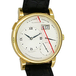 "A. Lange & Sohne ""Lange 1"" 18K Yellow Gold Mens Strap Watch"