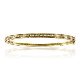 Penny Preville 18K Yellow Gold 0.42ct Diamond Bangle Bracelet