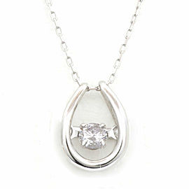 18k White Gold Diamond Azuki Chain Necklace