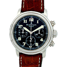 "Blancpain Leman ""Flyback"" Chronograph Stainless Steel Mens Watch"