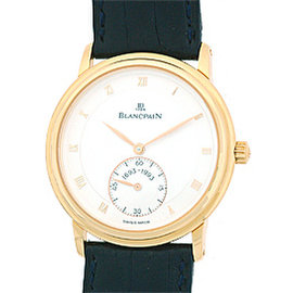 "BlancPain ""Jubilee"" Thin 18K Rose Gold Mens Watch"