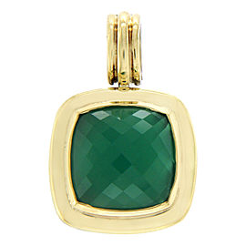 David Yurman Sterling Silver and 18K Yellow Gold Green Onyx Albion Charm Pendant