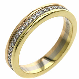 CARTIER Diamond 3 Gold Trinity Ring