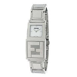 Fendi 5500L Stainless Steel White & Black Dial 18mm Womens Watch