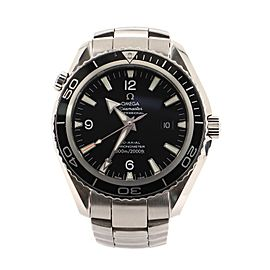 Omega Seamaster Professional Planet Ocean 600M Co-Axial Chronometer Automatic Watch Stainless Steel 45