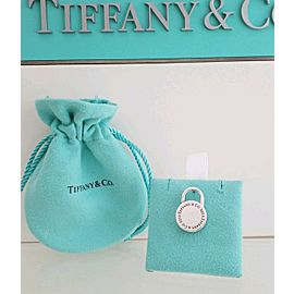 Tiffany & Co. Sterling Silver Round Padlock Charm Pendant