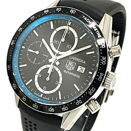 TAG HEUER CV201X Carrera Stainless Steel/Rubber belt Ringmaster Jason Button Limited Chronograph Wrist watch