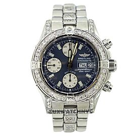 Breitling Chronomat Superocean A13340 Stainless Steel & Diamonds Mens Watch