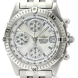 Polished BREITLING Chronomat MOP Dial Steel Automatic Mens Watch A13350
