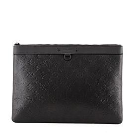 Louis Vuitton Discovery Pochette Monogram Shadow Leather GM