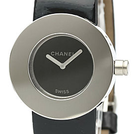 Polished CHANEL La Ronde Steel Leather Quartz Ladies Watch H0579