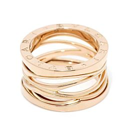 BVLGARI 18K Pink Gold B-ZERO 1 egend 4 BAND Ring