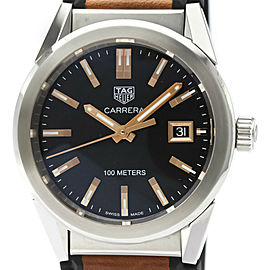 TAG HEUER Carrera Steel Leather Quartz Ladies Watch WBG1311