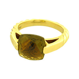 David Yurman 18K Yellow Gold Olive Quartz Fashion Ring