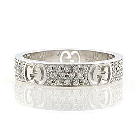 GUCCI 18K white gold Icon Stardust Diamond Ring