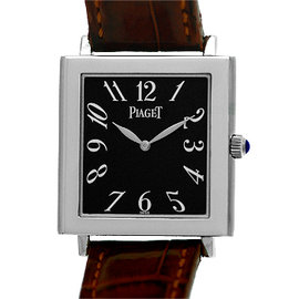 "Piaget ""Altiplano Tank Mйcanique"" 18K White Gold Strap Watch"