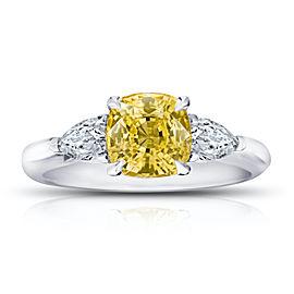 Platinum 2.36ctw. Sapphire 0.46ctw. Diamond Ring Size 7